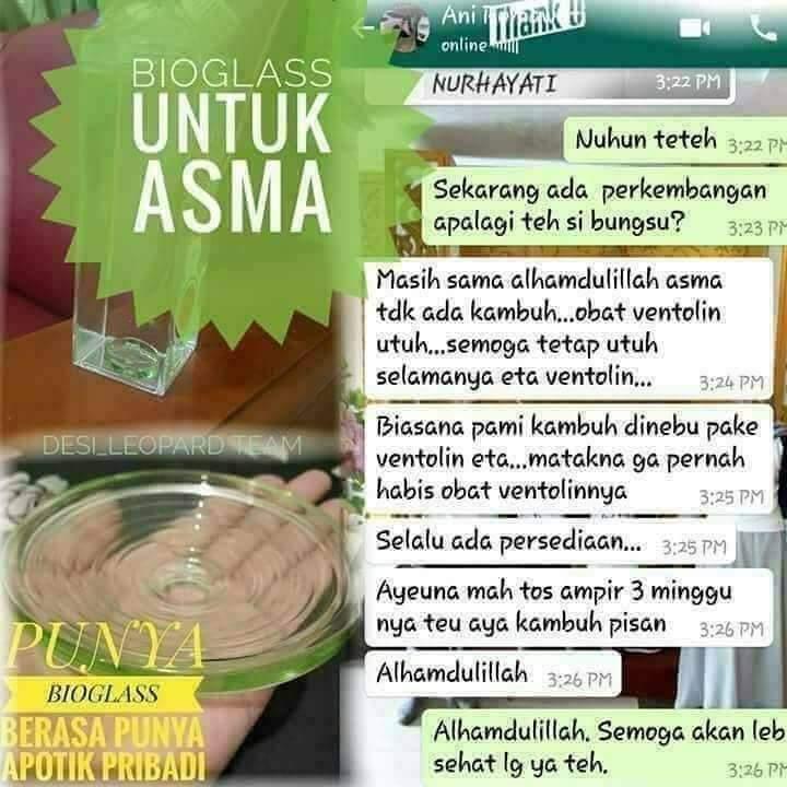 Bioglass utk asma