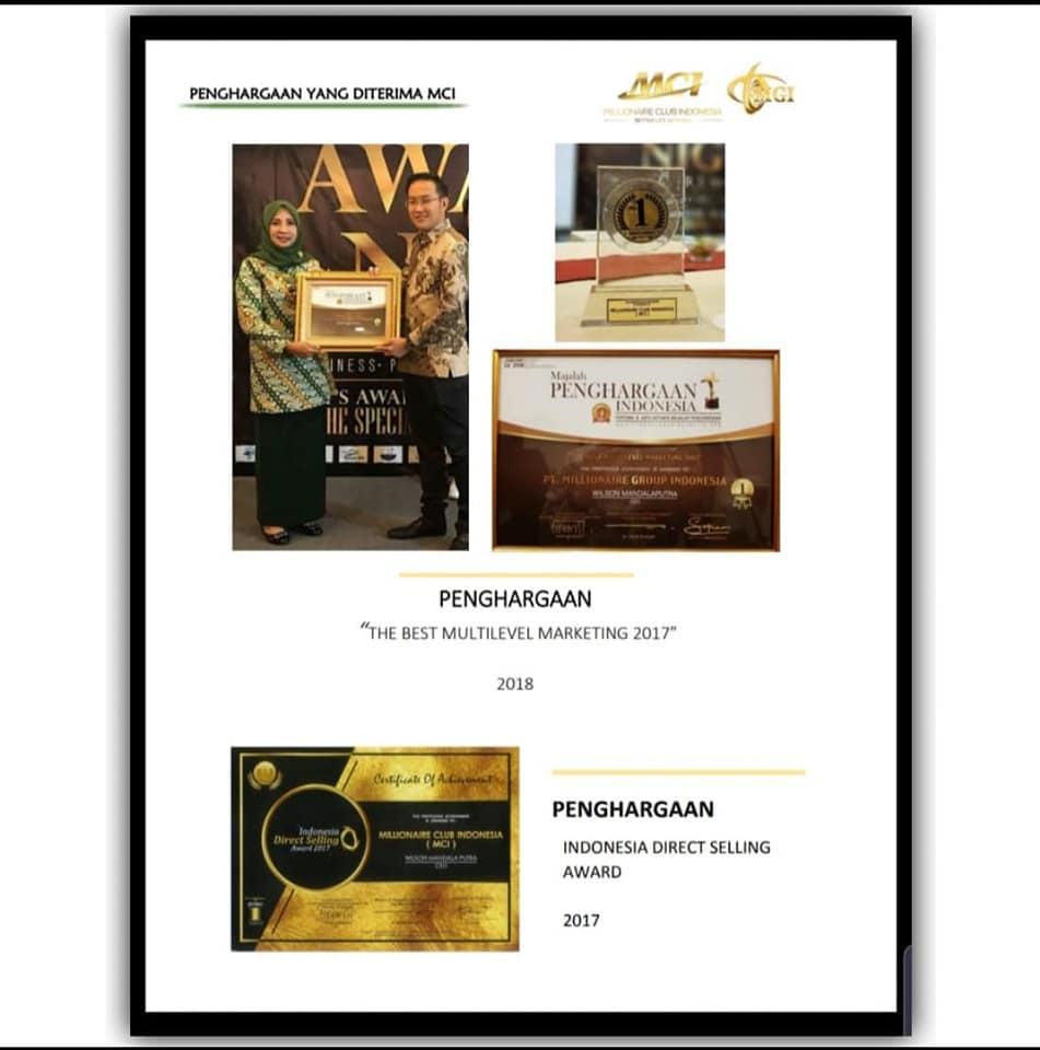 THE BEST MULTILEVEL MARKETING 2017 DAN INDONESIA DIRECT SELLING AWARD 2017