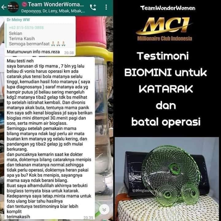 Testimoni Biomini untuk Katarak