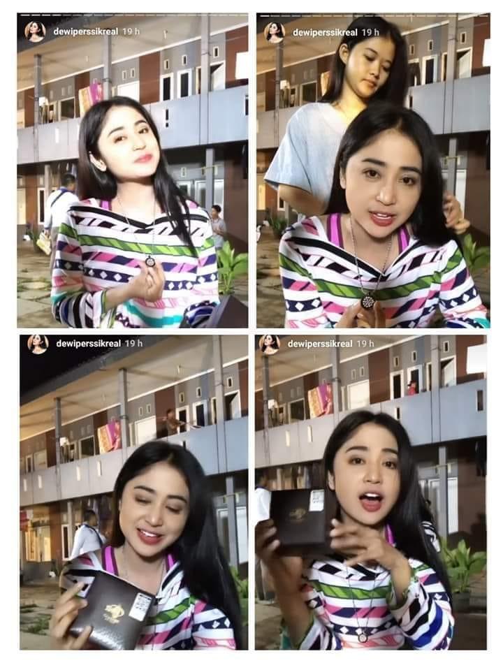 Dewi Persik Pakai Kalung Pendant MCI