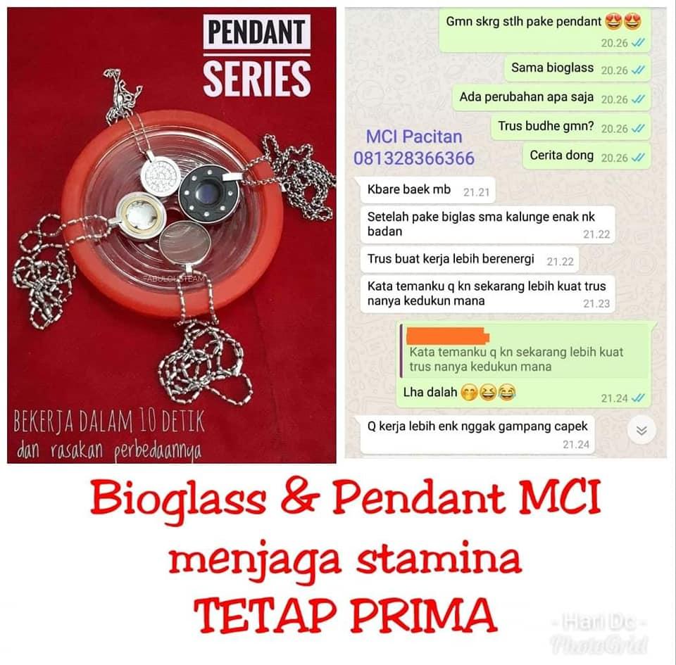 Bioglass dan Pendant Menjaga Stamina Makin Prima